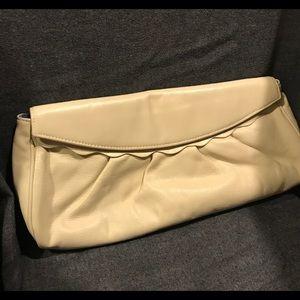 LAUREN MERKIN Buttercream Leather Oversize Clutch